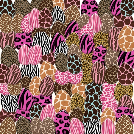Animal Print Easter Egg Collage photo