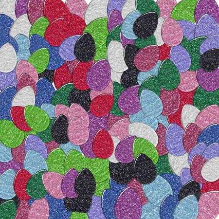 Glitter Easter Egg Collage