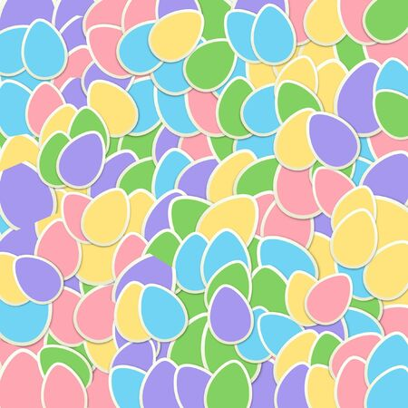 Pastel Sticker Easter Egg Collage