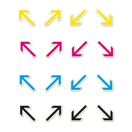Sticker Style Arrows Set 2