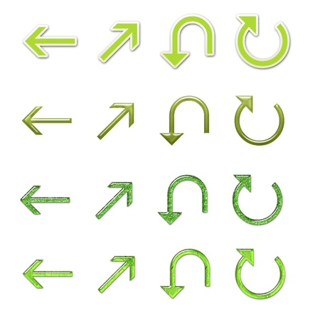 resize: Assorted Green Arrows Set 4 Stock Photo