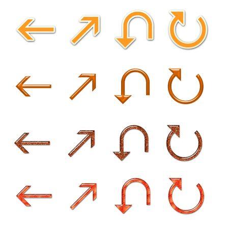 Assorted Orange Arrows Set 4