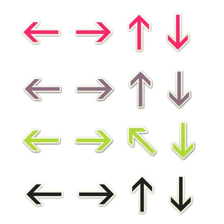 Sticker Style Arrows - Colorful 2