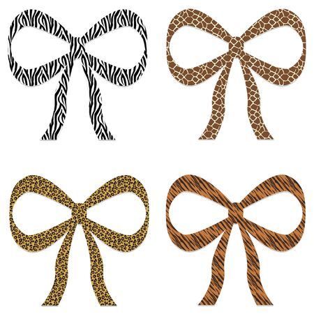 Animal Print Bows Stock Photo