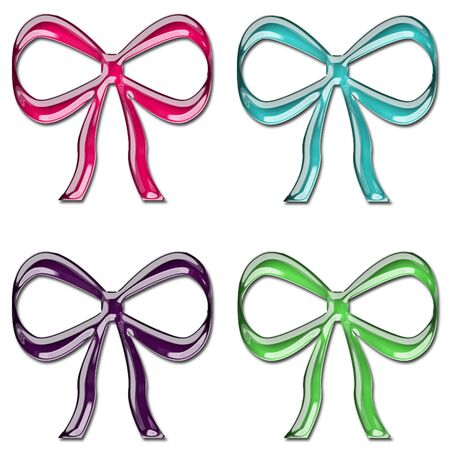 Colorful Glass Bows