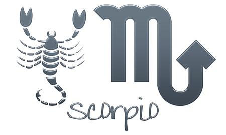 drawing: Scorpio Zodiac Signs - Navy Plastic Style