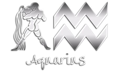 Aquarius Zodiac Signs - Chrome Style