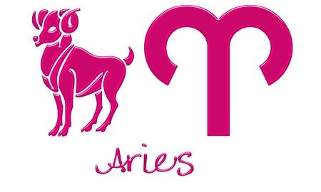 Aries Zodiac Signs - Hot Pink Plastic Style Banco de Imagens