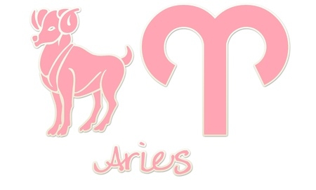 Aries Zodiac Styles - Pink Sticker Styles photo