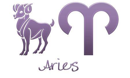 Aries Zodiac Signs - Purple Plastic Styles