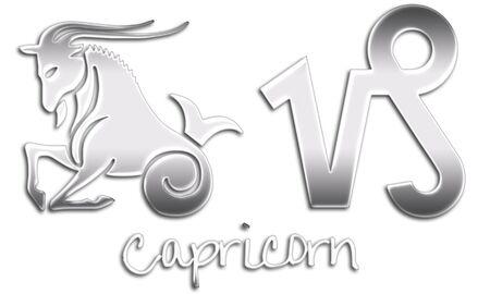 Capricorn Zodiac Signs - Chrome Style