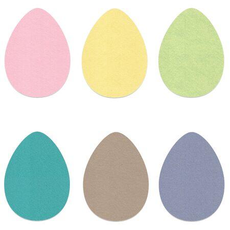 Felt Easter Eggs Set 3 Banco de Imagens