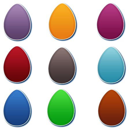 Colorful Gradient Easter Eggs