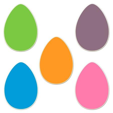 Sticker Style  Easter Eggs Set 2 Banco de Imagens