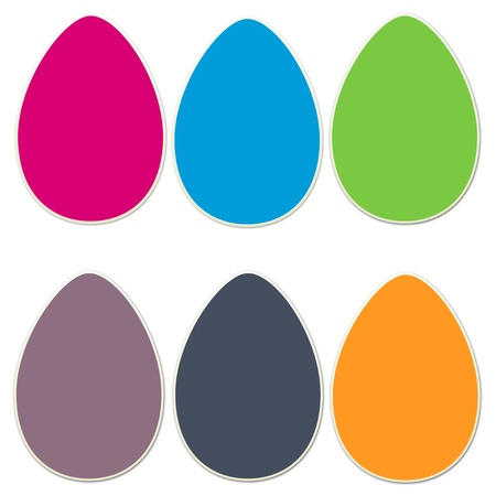 Sticker Style  Easter Eggs Set 4