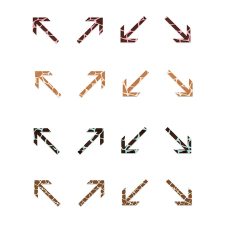 Colorful Giraffe Arrows Set 4 Banco de Imagens