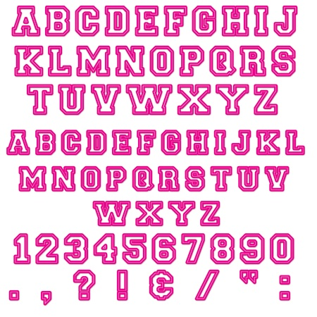 Pink Block Numbers & Letters photo