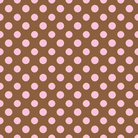 Brown   Light Pink Polkadot Paper Banco de Imagens