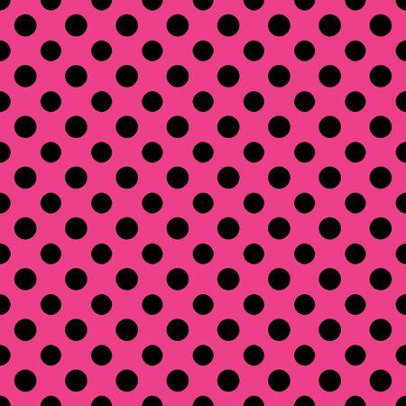 rosa negra: Hot Pink Negro Polkadot Libro