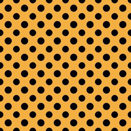 Orange   Black Polkadot Paper Banco de Imagens