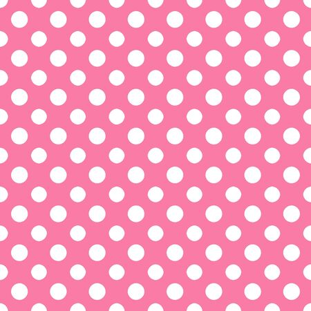 Pink   White Polkadot Paper