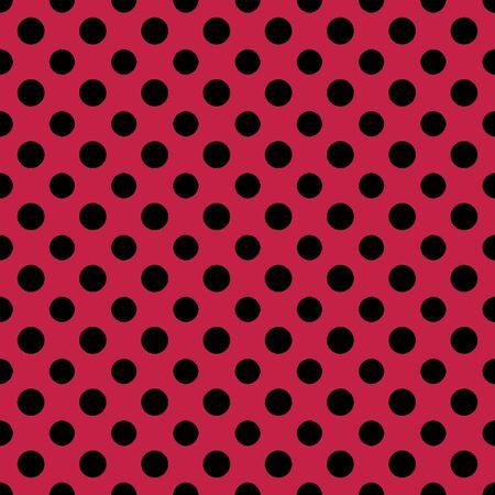 Raspberry   Black Polkadot Paper