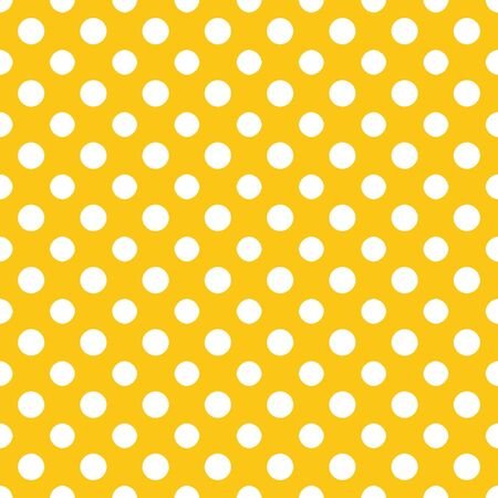 Yellow   White Polkadot Paper Stock Photo