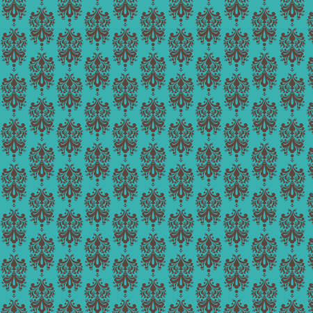 Blue   Brown  Damask Paper Stock Photo - 13171526