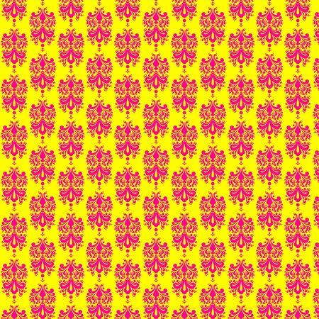 Bright Strawberry Banana Damask Paper