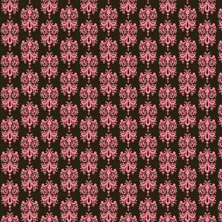 Brown   Pink  Damask Paper Banco de Imagens
