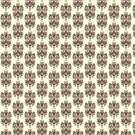 Light Chocolate  Damask Paper