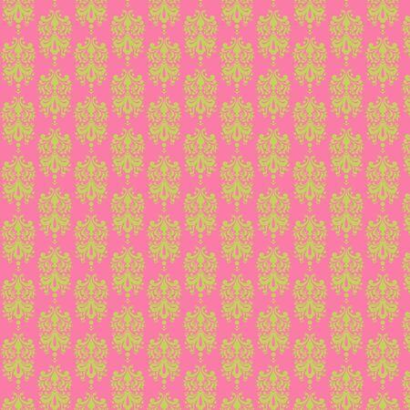 Light Pink   Lime Damask Paper Banco de Imagens
