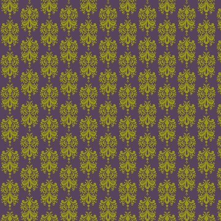 Purple   Lime Damask Paper