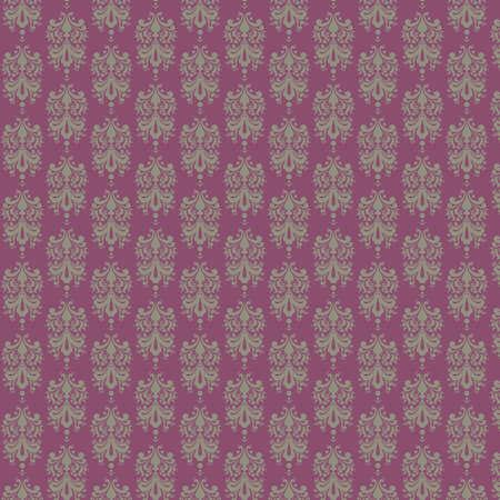 Purple   Gray Damask Paper Banco de Imagens