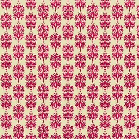 Raspberry   Cream Damask Paper