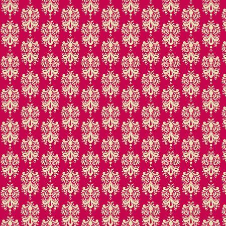 Raspberry   Cream 2 Damask Paper