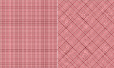 Red Houndstooth Paper Set Banco de Imagens