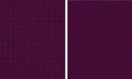 Black   Deep Purple Houndstooth Paper Set