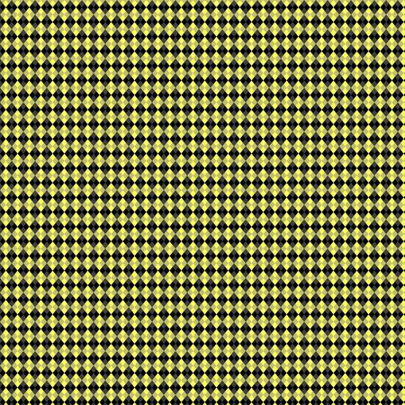 Black & Fluorescent Yellow Argyle Paper