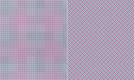 Blue Pink White Plaid Paper Set