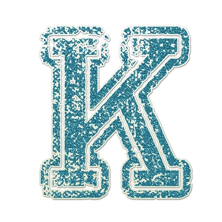 K in College Glitter Banco de Imagens