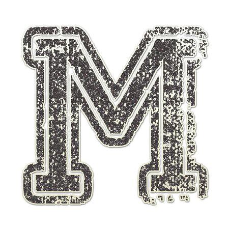 M in College Glitter