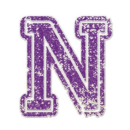 N in College Glitter Banco de Imagens