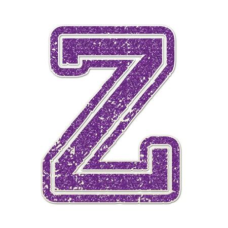 Z in College Glitter