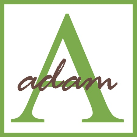 adam: Adam Name Monogram