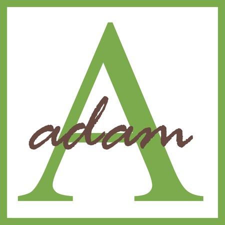 Adam Nome do monograma Banco de Imagens