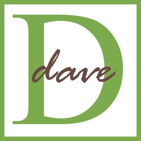 Dave Naam van het Monogram Stockfoto - 14838377