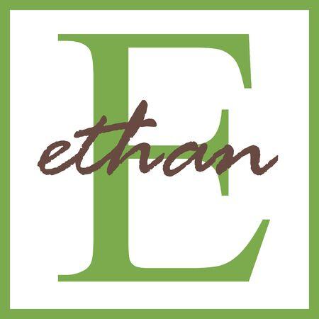 Ethan Naam van het Monogram Stockfoto - 14838378
