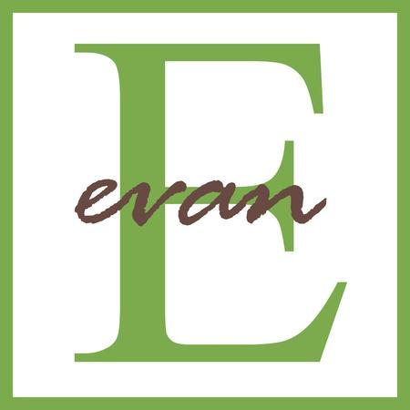 Evan Naam van het Monogram Stockfoto - 14837950
