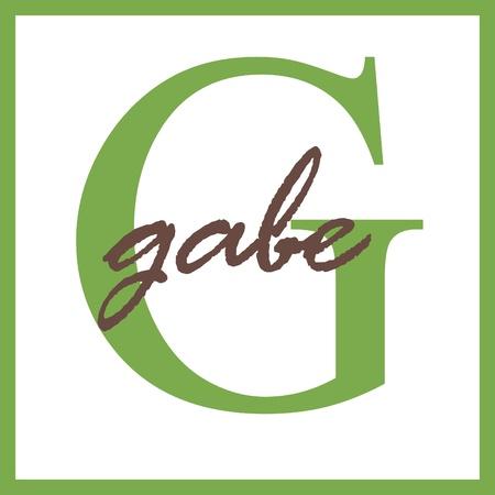 Gabe Name Monogram Фото со стока
